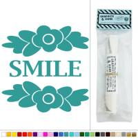 Smile with Flowers Vinyl Sticker Decal Wall Art Dcor