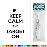 Keep Calm and Target On Hunting Rifle Vinyl Sticker Decal ...