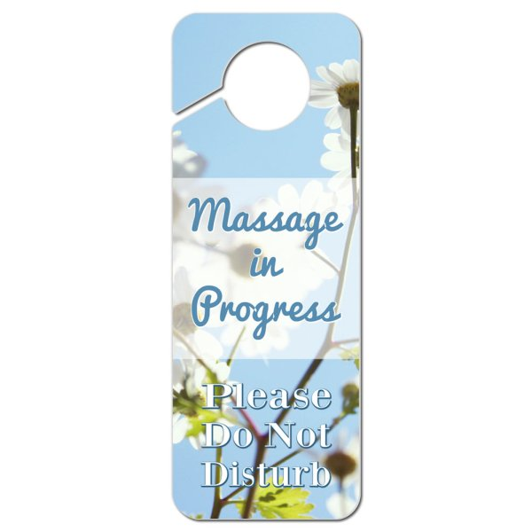 Disturb Plastic Door Knob Hanger Sign Massage In Progress