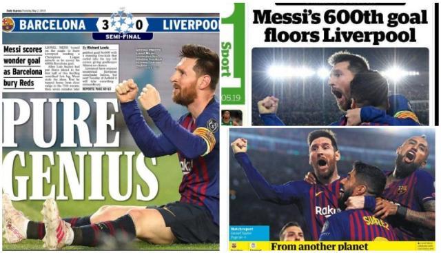 Hoy 2 de Mayo la Prensa Deportiva Mundial se rinde a Messi