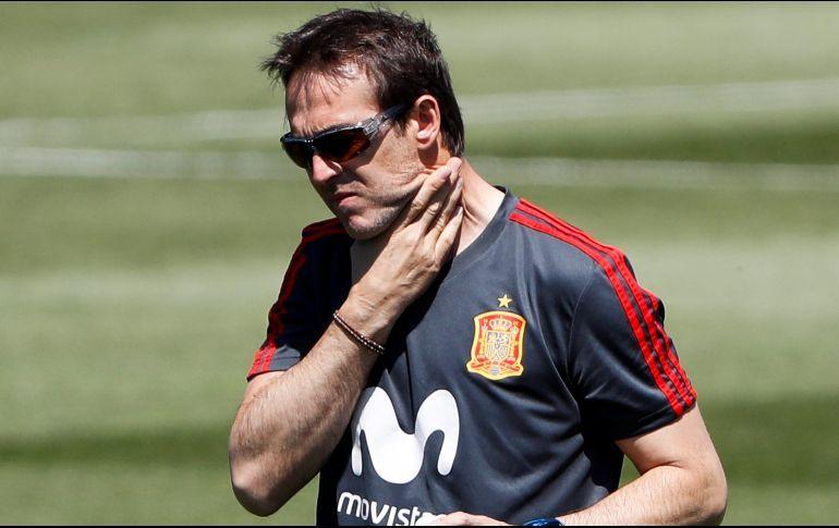 Julen Lopetegui es destituido del banquillo de la selección Española