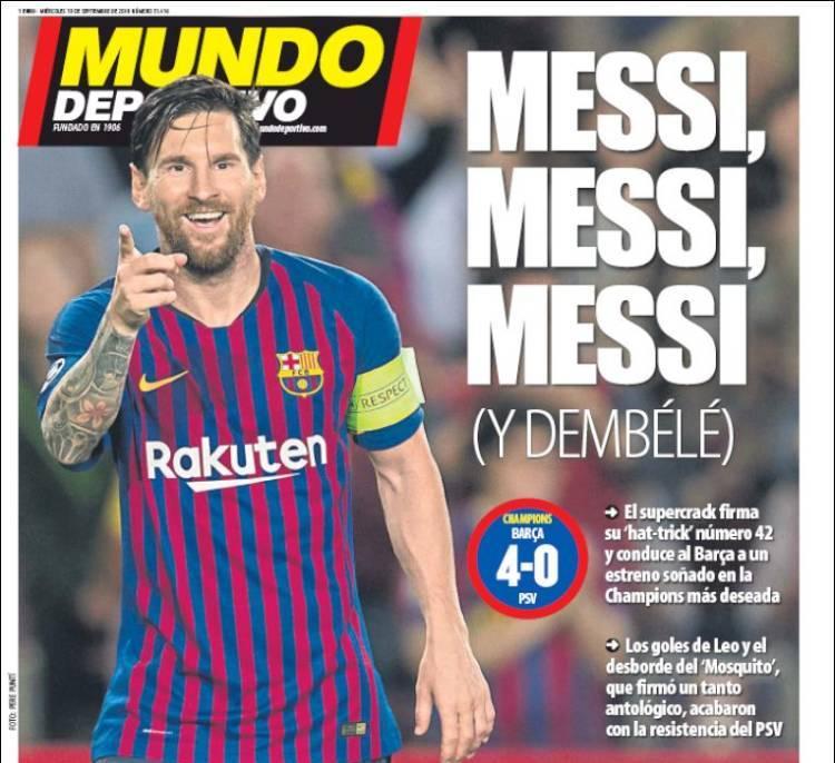 Las Portadas de la Prensa Deportiva del día de hoy 19/09/2018