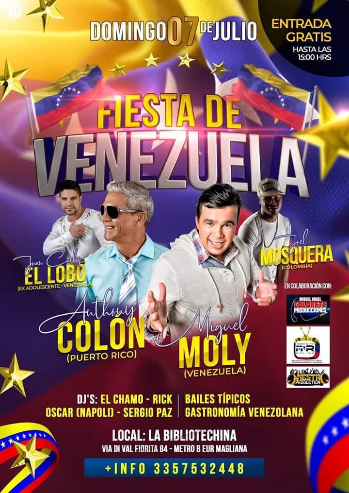 Roma celebra la primera Fiesta de Venezuela