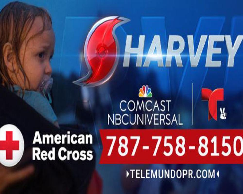 """Telemundo apoya a las víctimas del huracán Harvey con el """"Día de la Cruz Roja"""" este viernes 1 de septiembre"""