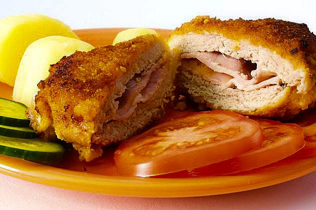 Receta: Pechuga de pollo rellena de jamón y queso