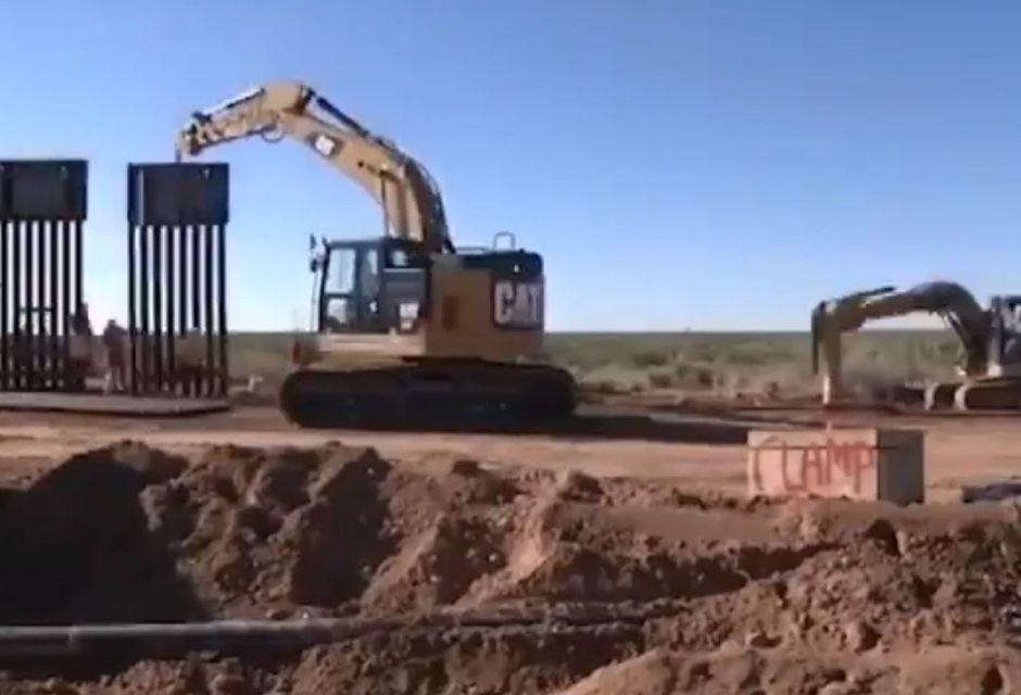 Trump comparte video de cómo se construye el muro en la frontera y promete más kilómetros
