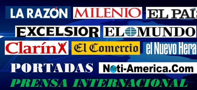 Portadas de los principales Periódicos del Mundo, jueves 18/julio/2019