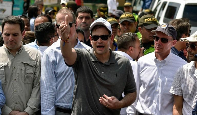 Marco Rubio llegó a Cúcuta para supervisar la entrega de ayuda humanitaria