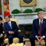 El presidente de Corea del Sur, Moon Jae-in se reunió con el presidente de Estados Unidos, Donald Trump, el jueves 11 de abril en la Casa Blanca, en Washington D.C./