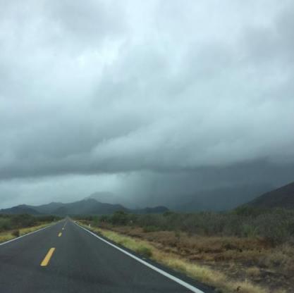Desde la carretera de #Loreto / Foto de José Luis Espinoza