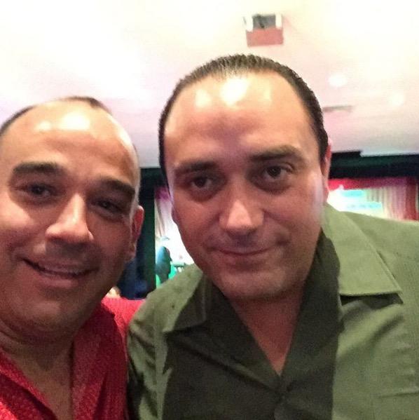 Alberto Millar y Roberto Borge. Cercanos.