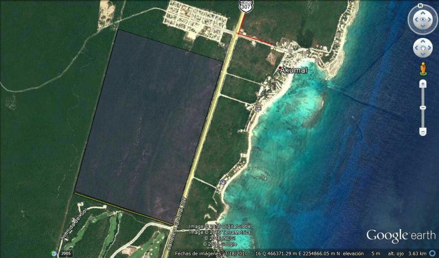 Ubicación del terreno vendido por Borge a BP Promotions, del Grupo Bahía Príncipe, en el corazón de la Riviera Maya, a 65 pesos el metro cuadrado.