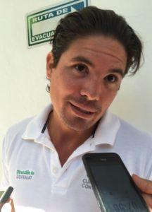 Manuel Linss de la Peña, director de Zofemat, en el ayuntamiento Benito Juárez.