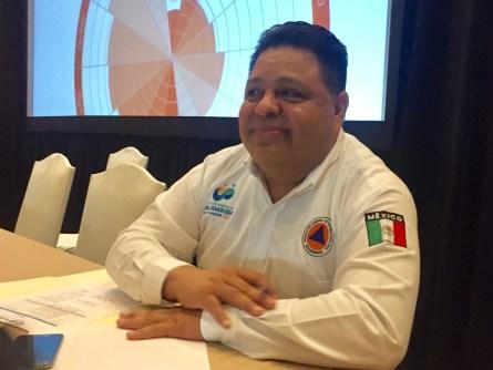Orlando Muñoz, director de Protección Civil en Solidaridad.