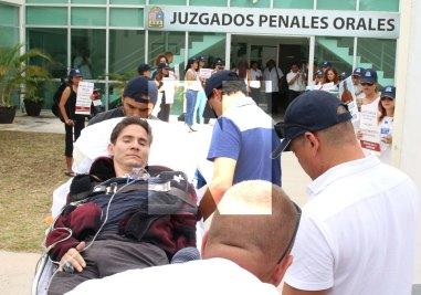 Víctima y agresor se las caras en diligencia en Solidaridad