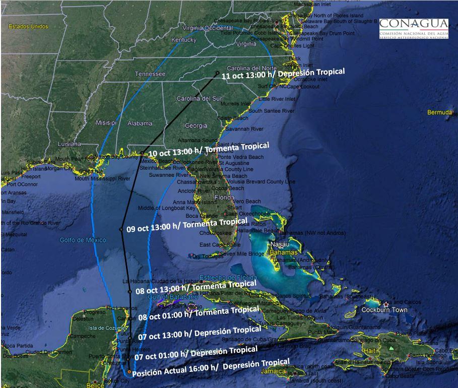Tormenta en el Caribe podria volverse huracan