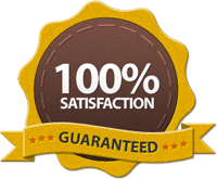 Satisfaction guaranteed badge | Noticedwebsites