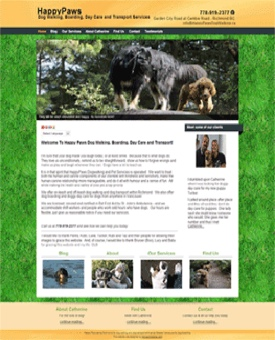 Happy Paws Dog Walking Website | Noticedwebsites