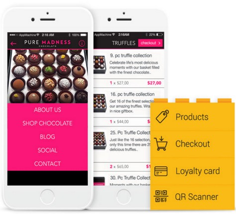Mad Chocolate mobile business app   Noticedwebsites