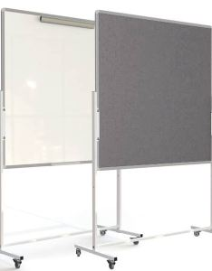 also mobile combination notice board flip chart holder  whiteboard rh noticeme