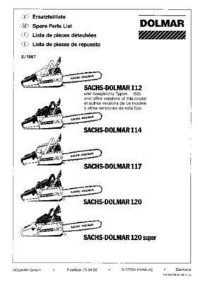 Tronconneuse Dolmar 120.pdf notice & manuel d'utilisation