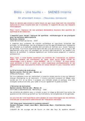 Exemple Dossier Raep Saenes Rempli : exemple, dossier, saenes, rempli, Dossier, Concours, Interne, Session, Saenes.pdf, Notice, Manuel, D'utilisation