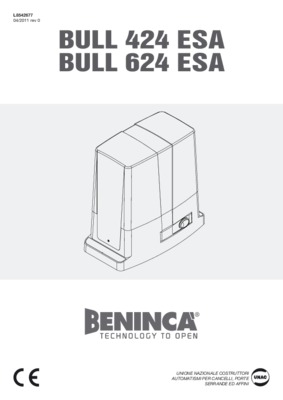 Beninca Electronica Centralina.pdf notice & manuel d