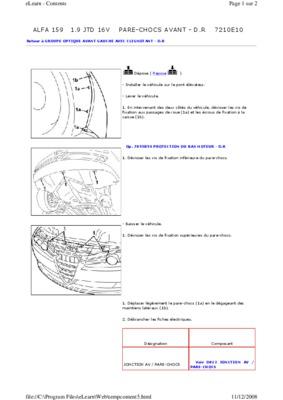 Depose Pare Chocs Avant Kangoo.pdf notice & manuel d