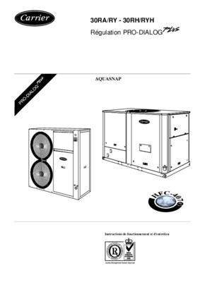 Carrier 30rh 200.pdf notice & manuel d'utilisation