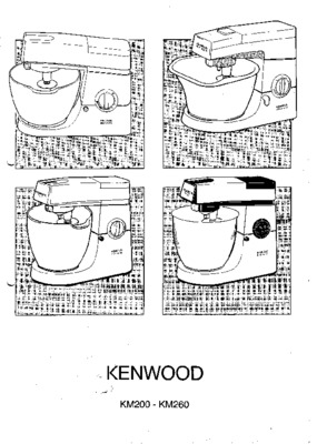 Robot Kenwood Km266.pdf notice & manuel d'utilisation