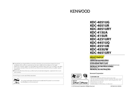 Kenwood Kdc Bti950rn.pdf notice & manuel d'utilisation