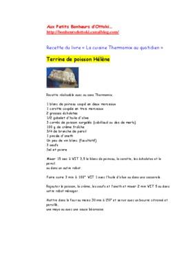 Cuisine Au Quotidien Thermomix Pdf