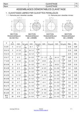 Norme Iso Rainures De Clavettes.pdf notice & manuel d
