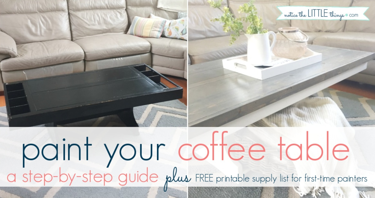 how to paint your coffee table notice