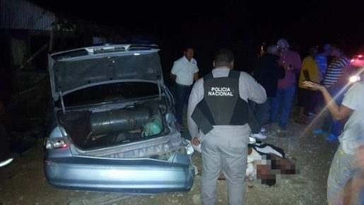Dos muertos accidente carretera Licey-Moca