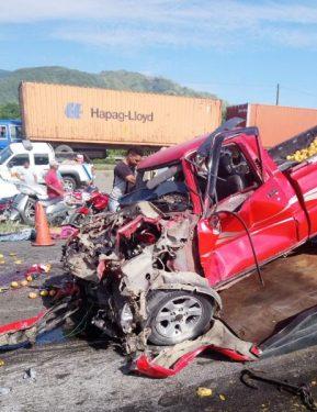 Tres muertos y siete heridos hoy accidente en Bonao