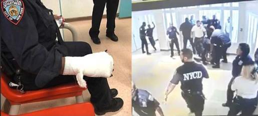 39 policías NY han sido atacados y heridos por jóvenes presos