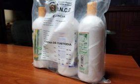 Cocaína liquida es ocupada en el AILA