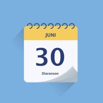 Algun deadline importante pa dia 30 di juni 2021:Grondbelasting