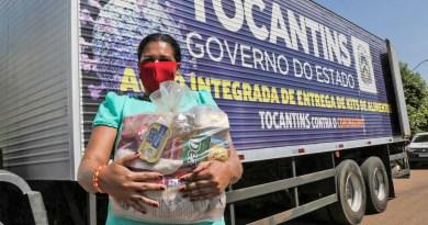 Mais de 1,2 mil famílias receberão kits de alimentos do Governo nesta semana no Tocantins