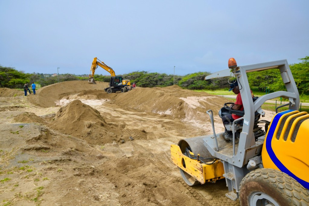 Ministro Dangui Oduber: Renovación de pista BMX en Jaburibari avanzando satisfactoriamente