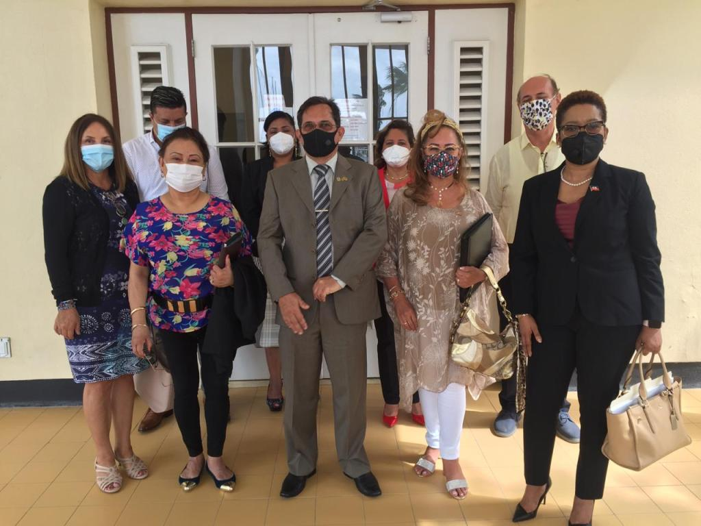Consulados en Aruba se reúnen con el Ministro de Asuntos Social