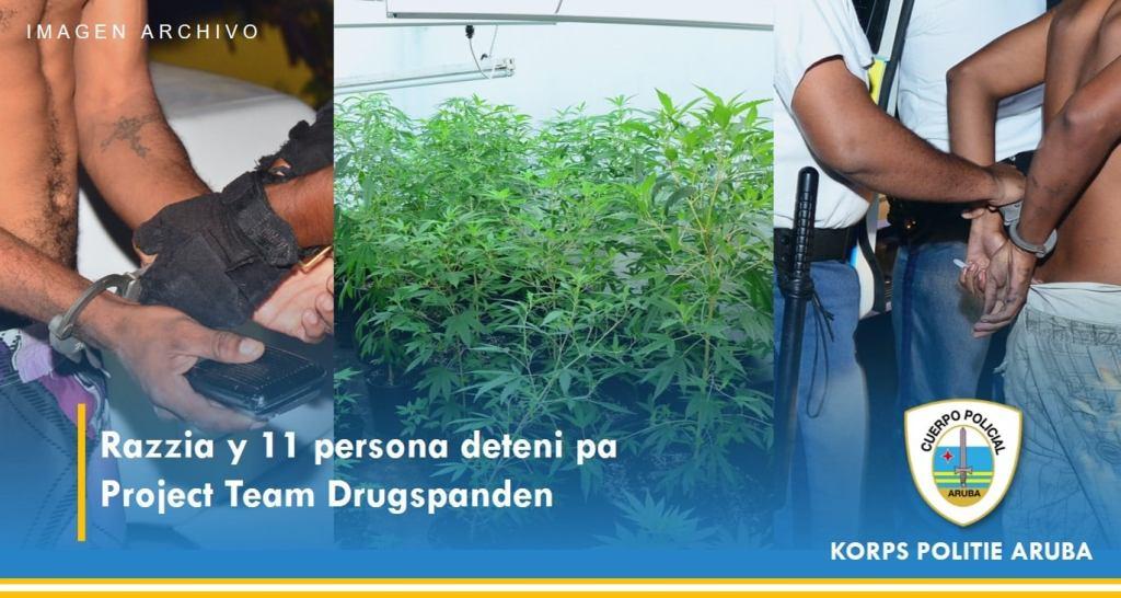 Arrestan a 11 personas por venta y posesión de sustancias ilícitas