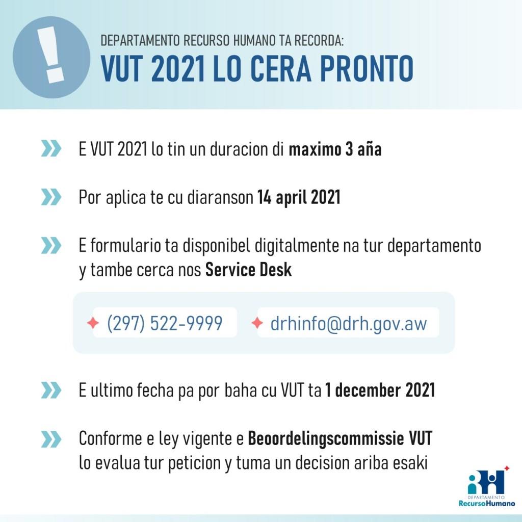 Último llamado al registro de VUT 2021
