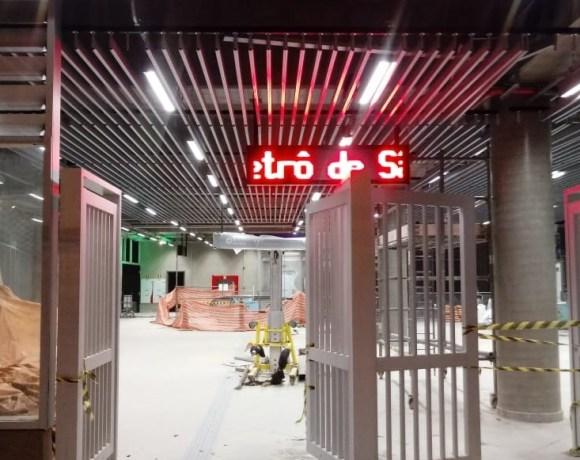 Estação Santa Cruz da Linha 5-Lilás (Foto: Anderson Dantas/Rede Noticiando)