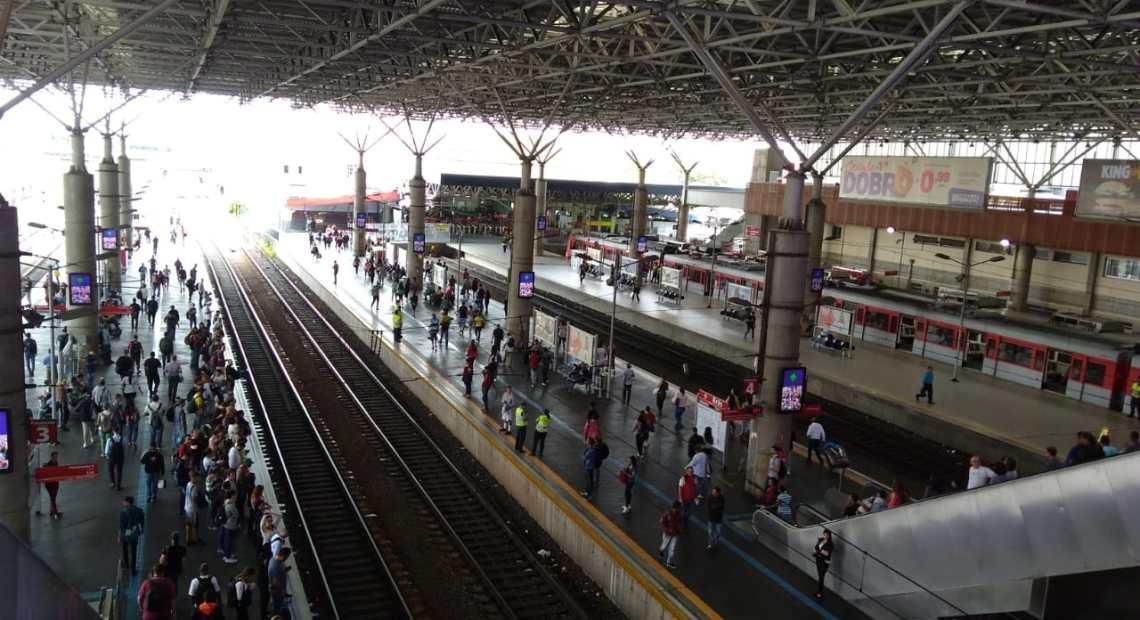 Estação Brás linhas da CPTM Natal
