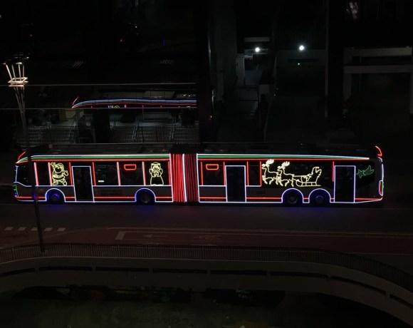 ônibus natalinos ônibus iluminados