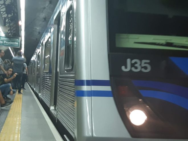 Viagem inaugural do J35 Metrô de São Paulo