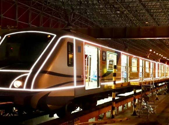 Trem natalino do Metrô Natal