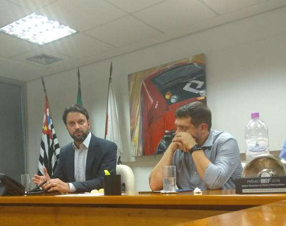Pedro Moro Presidente da CPTM e o secretário dos transportes de São Paulo